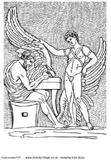 Daedalus And Icarus Colouring Page Ancient Greece Coloring Pages
