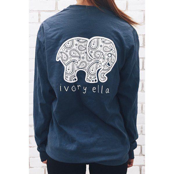 Simple Women's Long Sleeve Elephant Pattern Sweatshirt