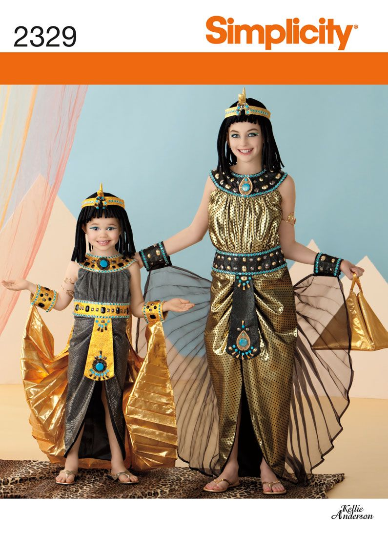Simplicity : 2329 Child's and Girl's Egyptian Princess