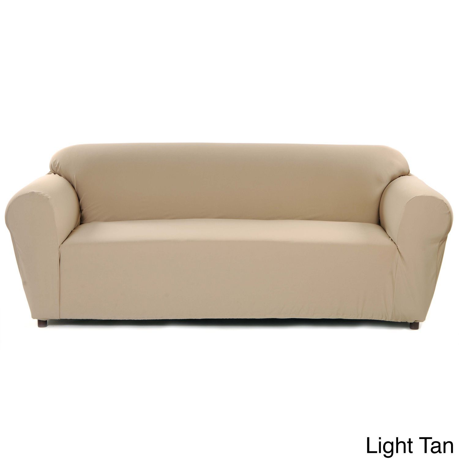 Stretch Poly Twill e Piece Sofa Slipcover by Classic Slipcovers