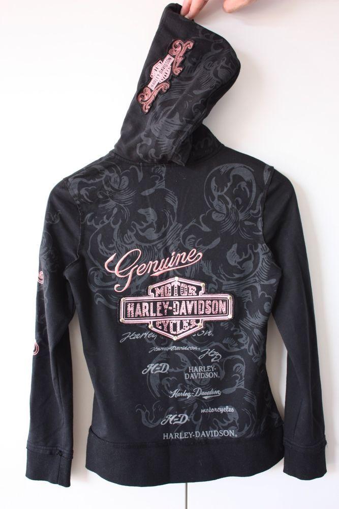 harley davidson attire for women | Harley Davidson ZIP UP Hoo ...
