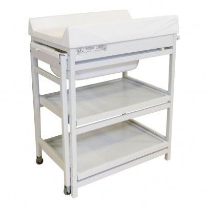 Quax Comfort Changing Table With Bathtub And Mattress Convertible Into A  Dresser, Baskets Not Included
