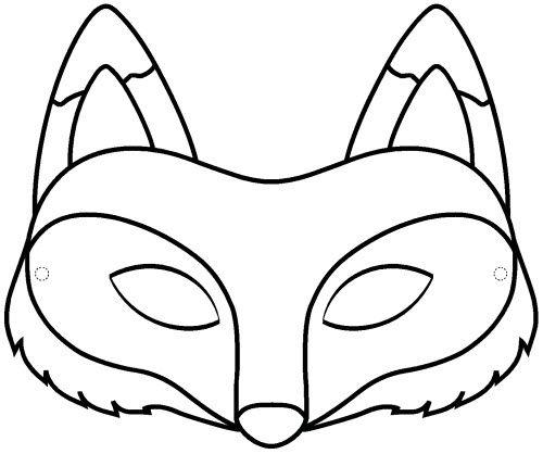 Pdf masque renard a colorier dessin animaux enfants - Coloriage renard ...