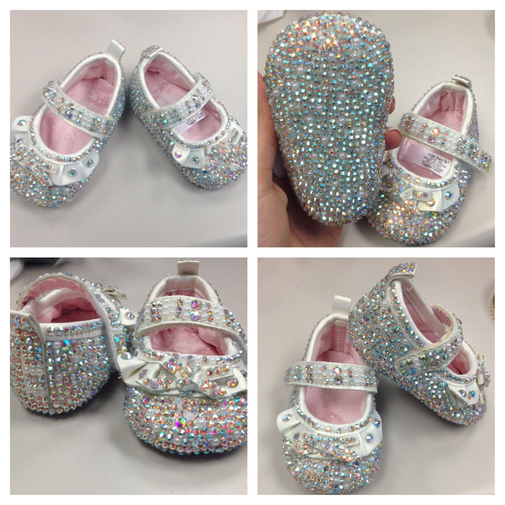 Bedazzled baby shoes For any inquiries email me at doritsemail
