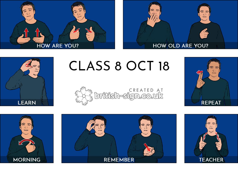 British Sign Language Vocab Generator