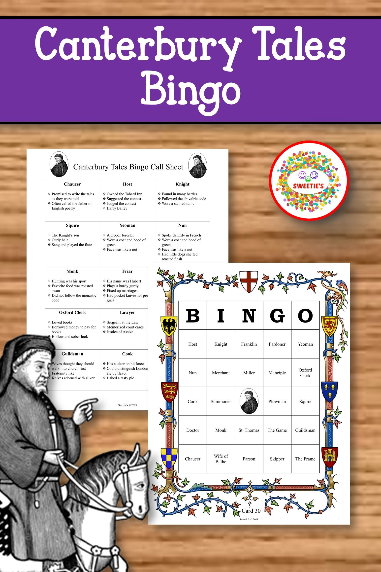 Canterbury Tales Bingo Game Canterbury Tales School Reviews