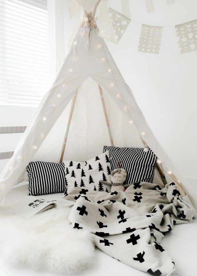 chambre enfant le tipi la nouvelle cabane adopter chambre d 39 enfant kids room design. Black Bedroom Furniture Sets. Home Design Ideas