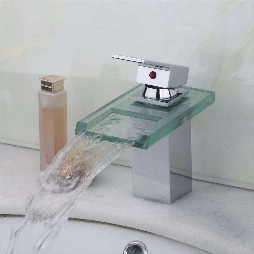 Sumptuous Reasonable in Price New Glass Waterfall Faucet Bathroom ...