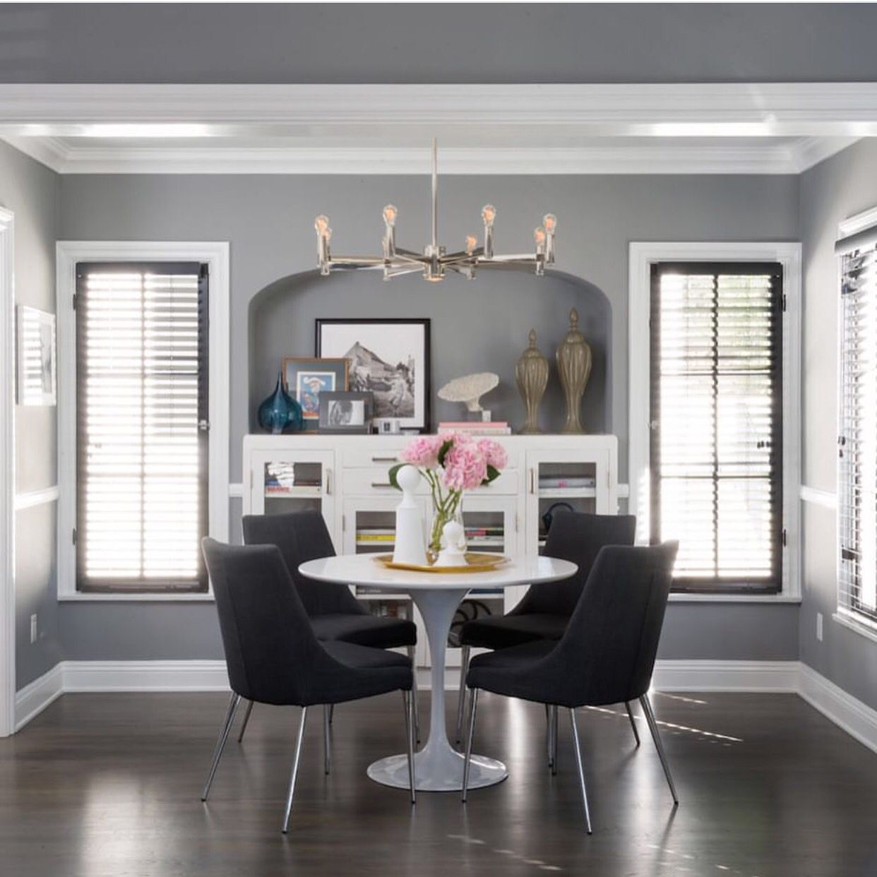 Gray Geese Jeff Lewis Paint Jeff Lewis Living Room Round Dining Room Dining Room Small