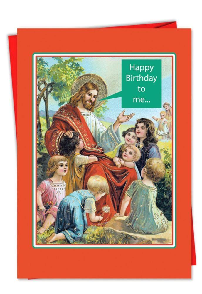 8 Happy Birthday to Me (Jesus) Christmas Cards w/ Envelopes; Kitsch ...