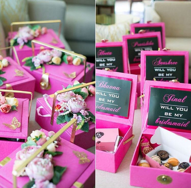 Be My Bridesmaid Goody Bag Indian Wedding Favour Ideas Ideas