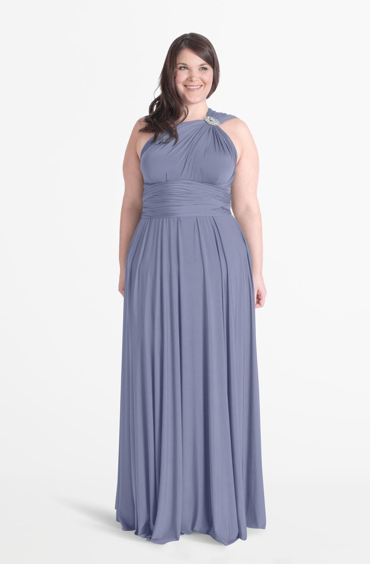 1919e8464fa Dusty Blue - Henkaa Convertible Style Dress - Best-selling convertible dress  in maxi length - weddings special events