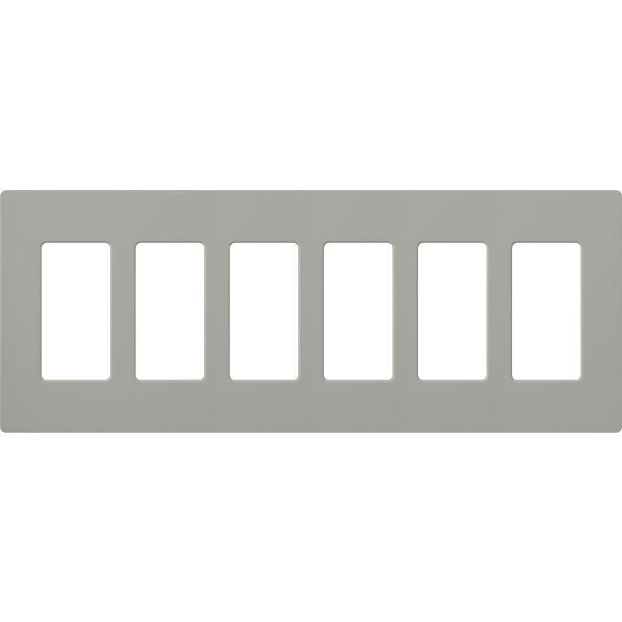 Lutron Claro 6 Gang Gray Six Decorator Screwless Standard Wall