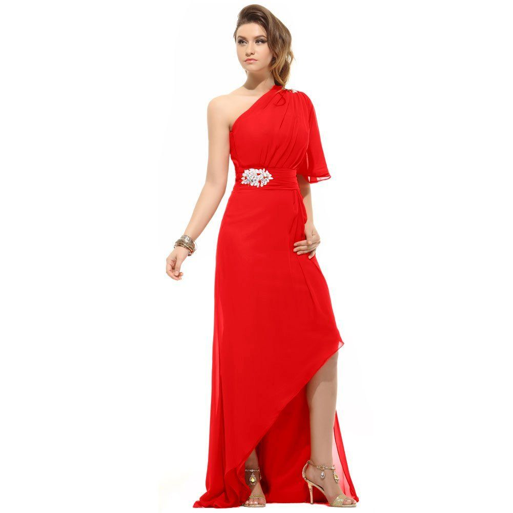 Sunvary front short and long back chiffon evening party dresses