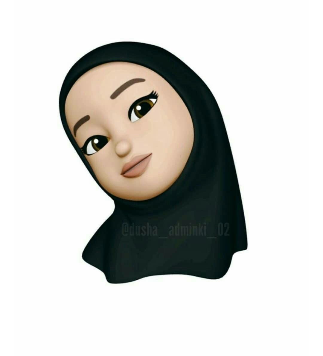 Kartun Hijab Cartoon Hijab Drawing Girl Emoji