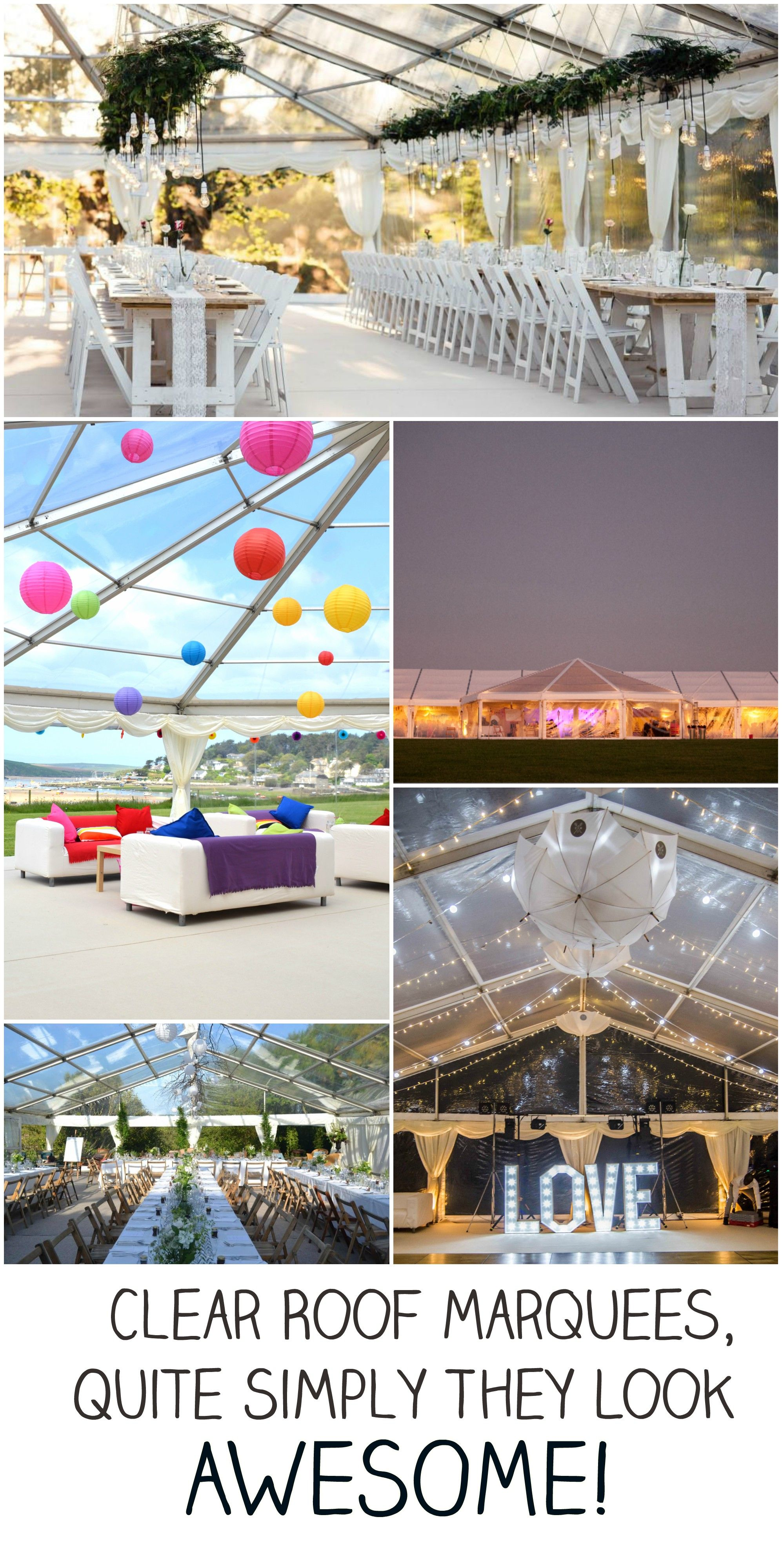 Clear roof marquees u quite simply they look awesome marquee hire