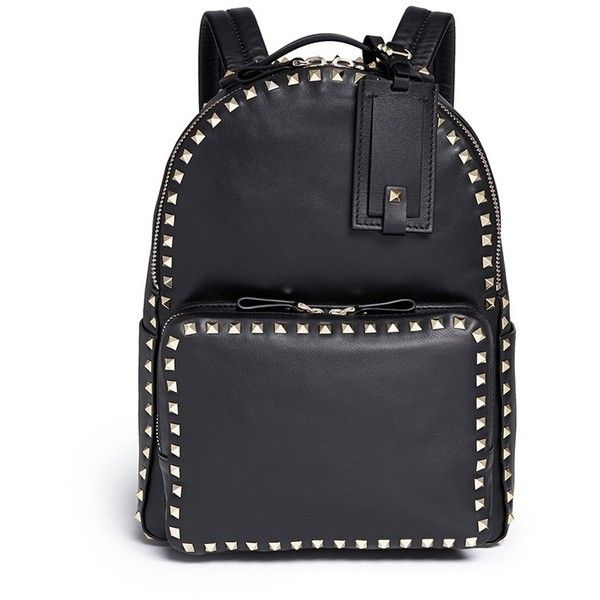 dc54790e60c7 Valentino  Rockstud  leather backpack ( 2