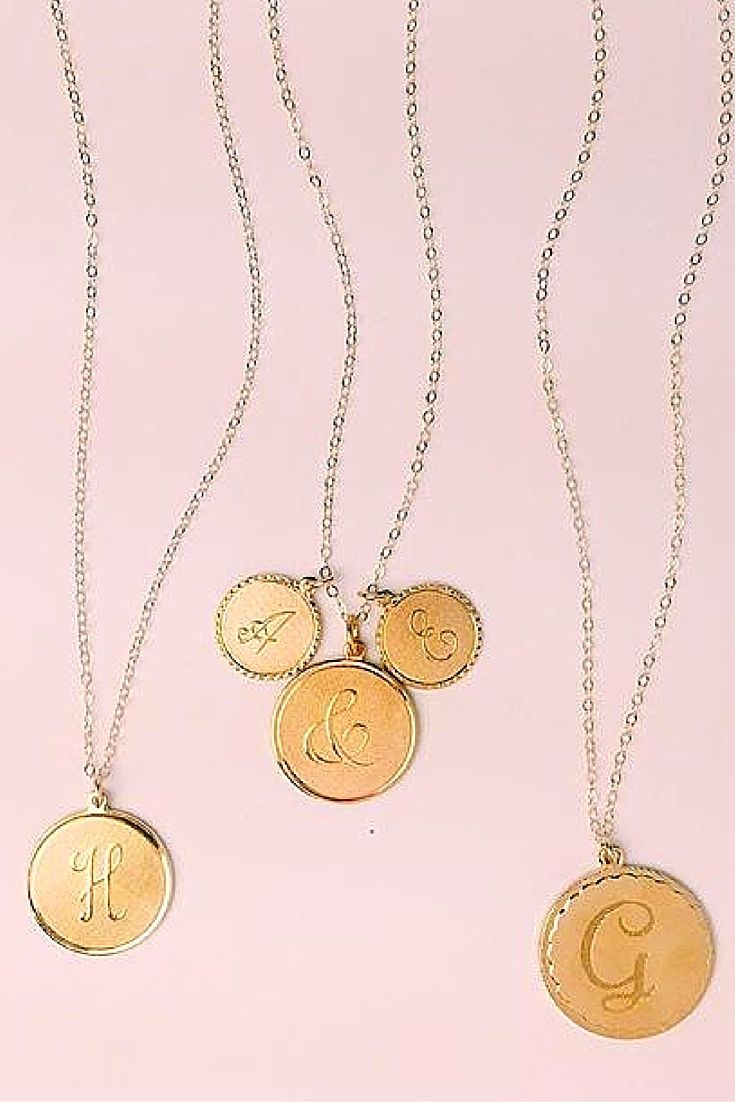 Perfect monogrammed pendant necklaces in glossy gold or glittery perfect monogrammed pendant necklaces in glossy gold or glittery silver build your perfect piece swellcaroline aloadofball Images