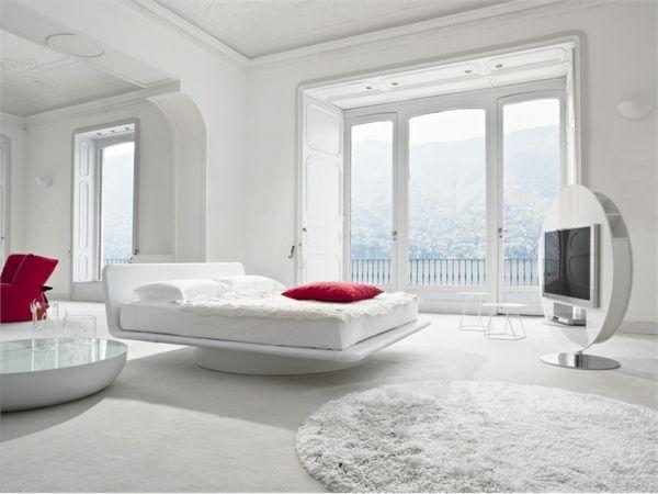 High Quality Weißer Schlafzimmer Mit Roten Kissen Good Ideas