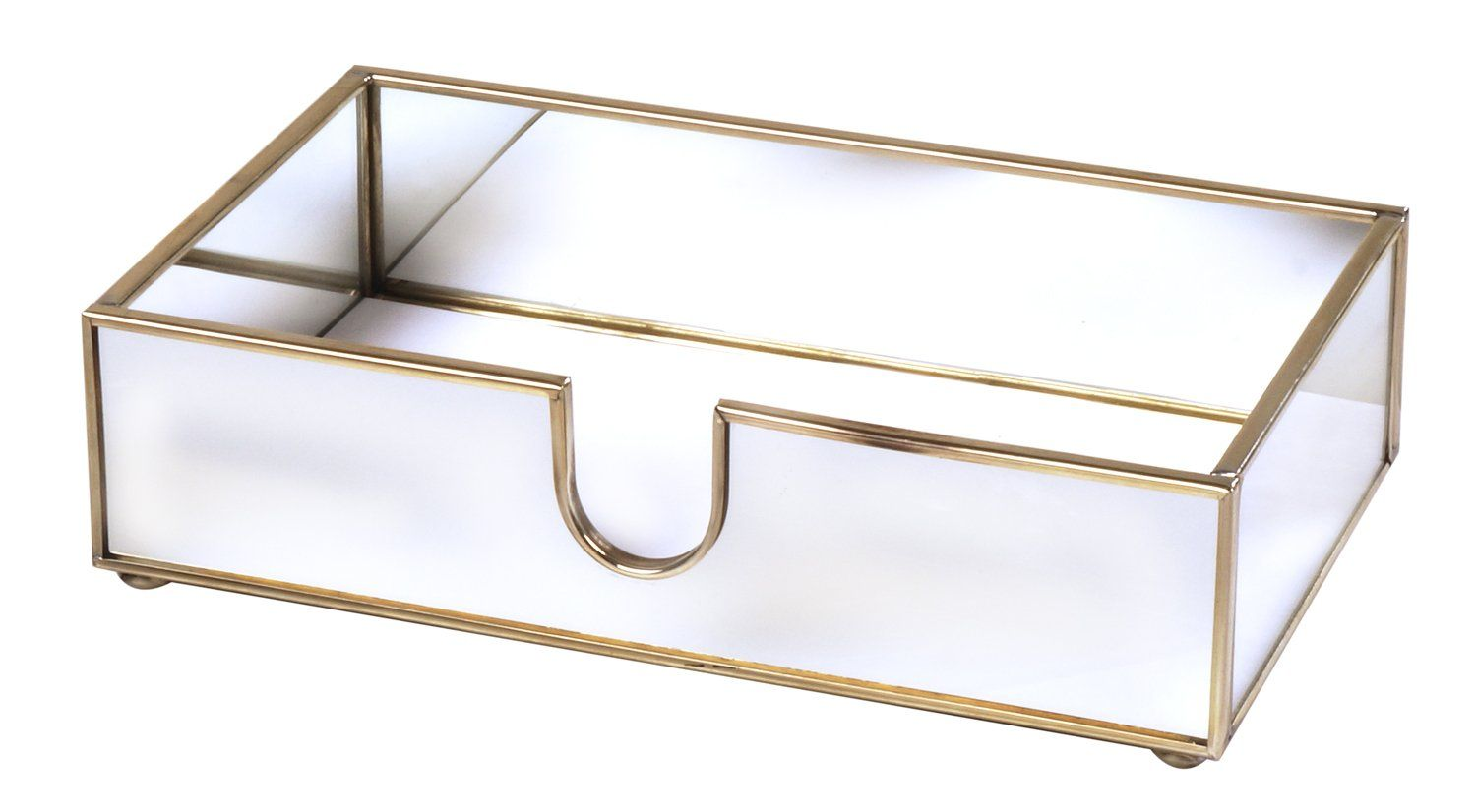 Amazon Com Hand Towel Holder Mirrored For Paper Guest Towels Or