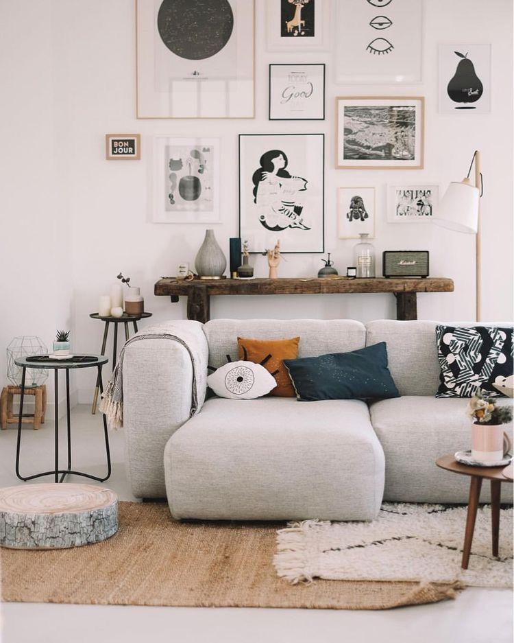 Boho Living Room Couch Home Decor Ideas