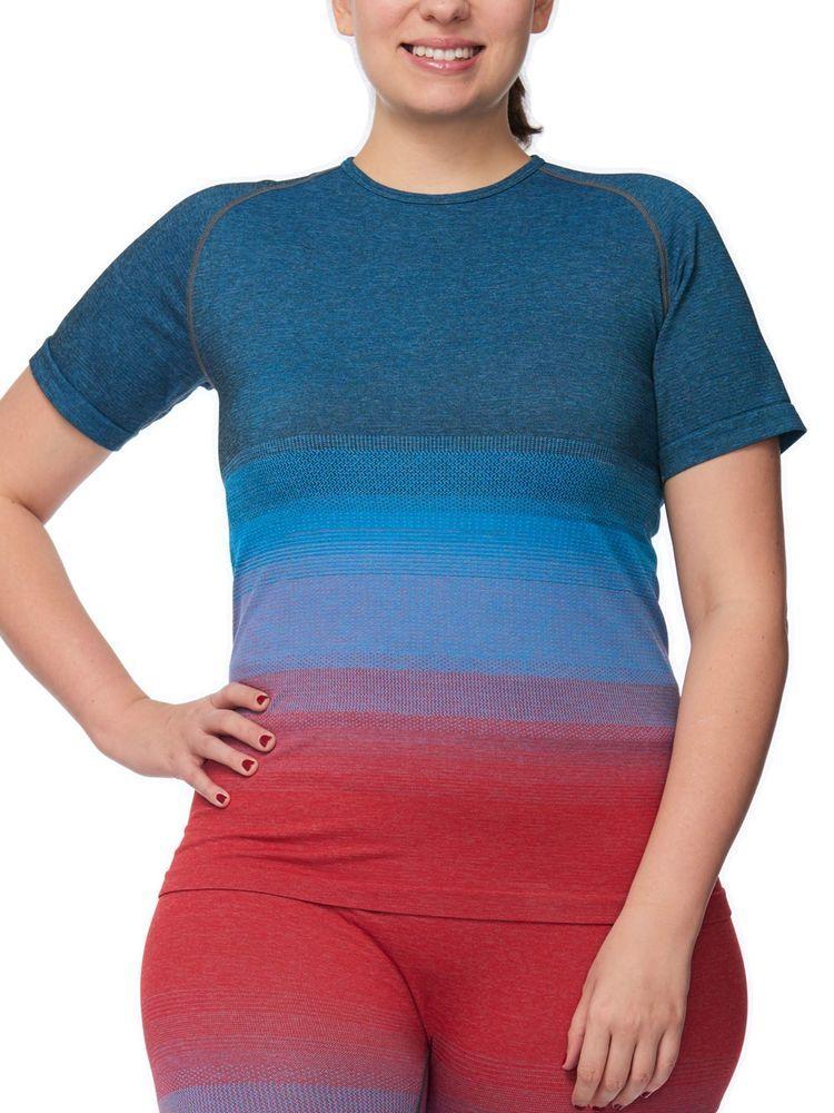 00332e37e Under Control Plus Size 1X Active Short Sleeve Ombre Raglan T-shirt  #UnderControl #TShirt