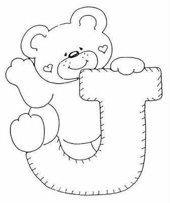 Abecedario Infantil Para Colorear Y Imprimir Letras Con Ositos Abecedario Infantil Moldes De Letras Abecedario