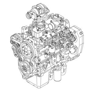 Case F4GE F4HE Diesel Engine Workshop Service Repair