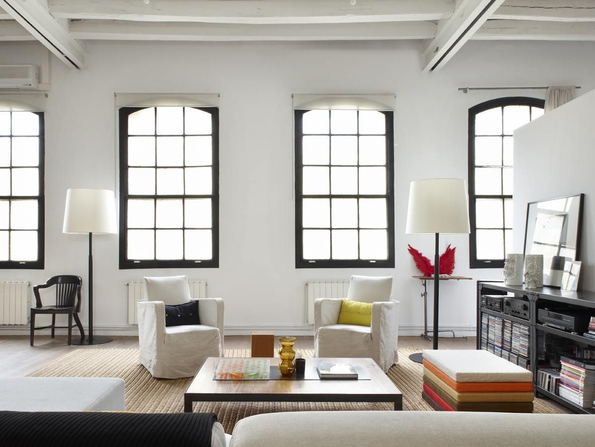 New York Style Loft Apartment Designs In Downtown Barcelona By Shoot 115 Hall And Entrance Kitchen As Apart Of