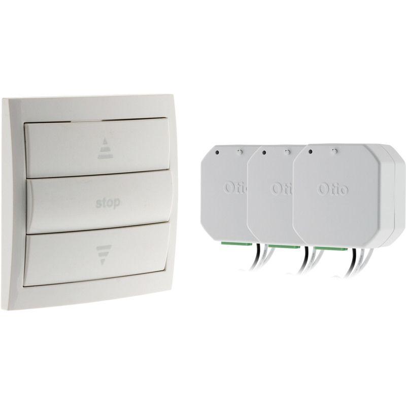 Pack Volets Roulants Connectes 1 Telecommande 3 Modules Otio