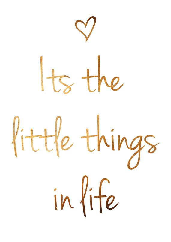 Its The Little Things In Life Quote Copper Wall Art Copper Poster