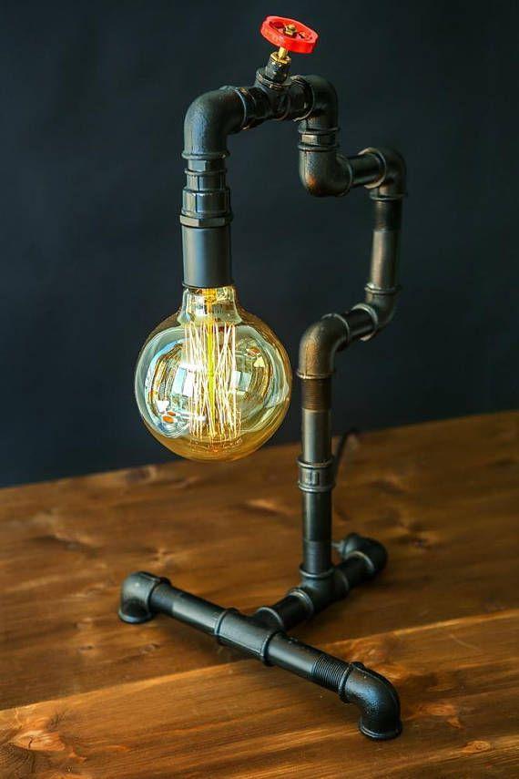 Lampe de tuyauteries industrielles pour la maison ou au bureau Il