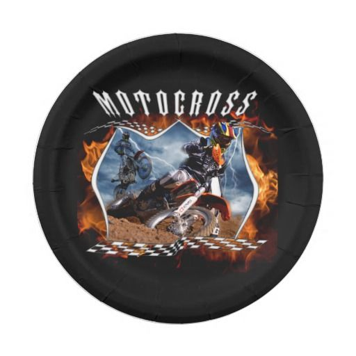 Motocross fire and lightning paper plates for a motocross themed party.  sc 1 st  Pinterest & Motocross fire and lightning paper plates for a motocross themed ...