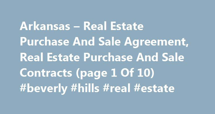 Grissom Team Appreciates Your Business Arkansas Real Estate - purchase and sales agreement
