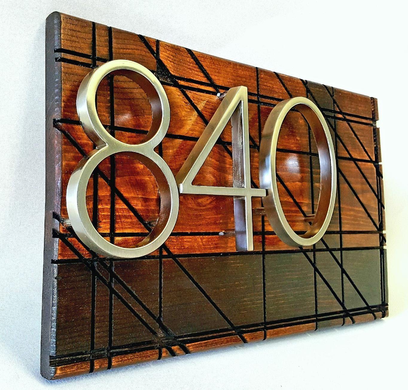 Modern Address Sign House Numbers Custom Address Plaque Metal Numbers Personalized Front Door Decor Address Plaque Custom Address Plaque Unique Front Doors