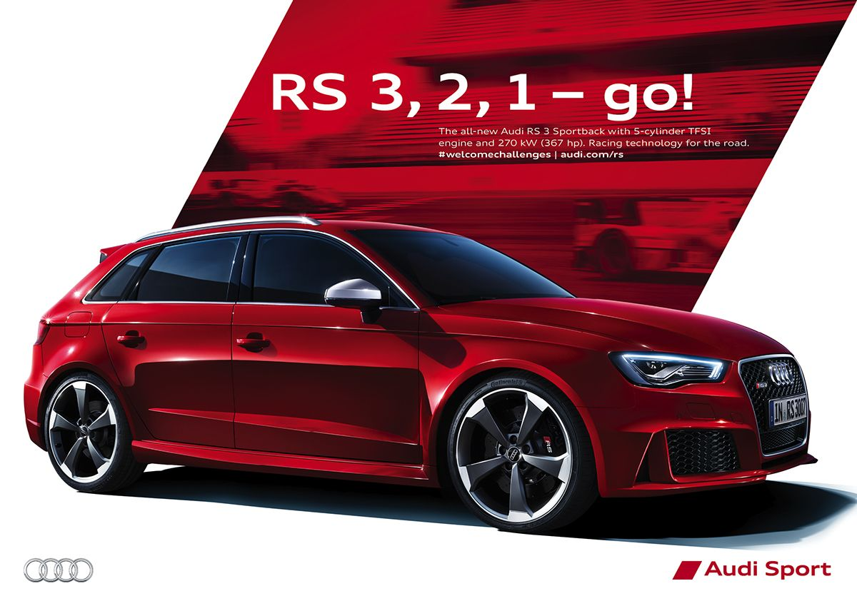 Audi RS3 Campaign 2015 Print on Behance