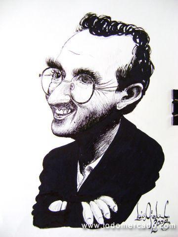 Roberto Bolaño-Caricature - ©Regenbogen