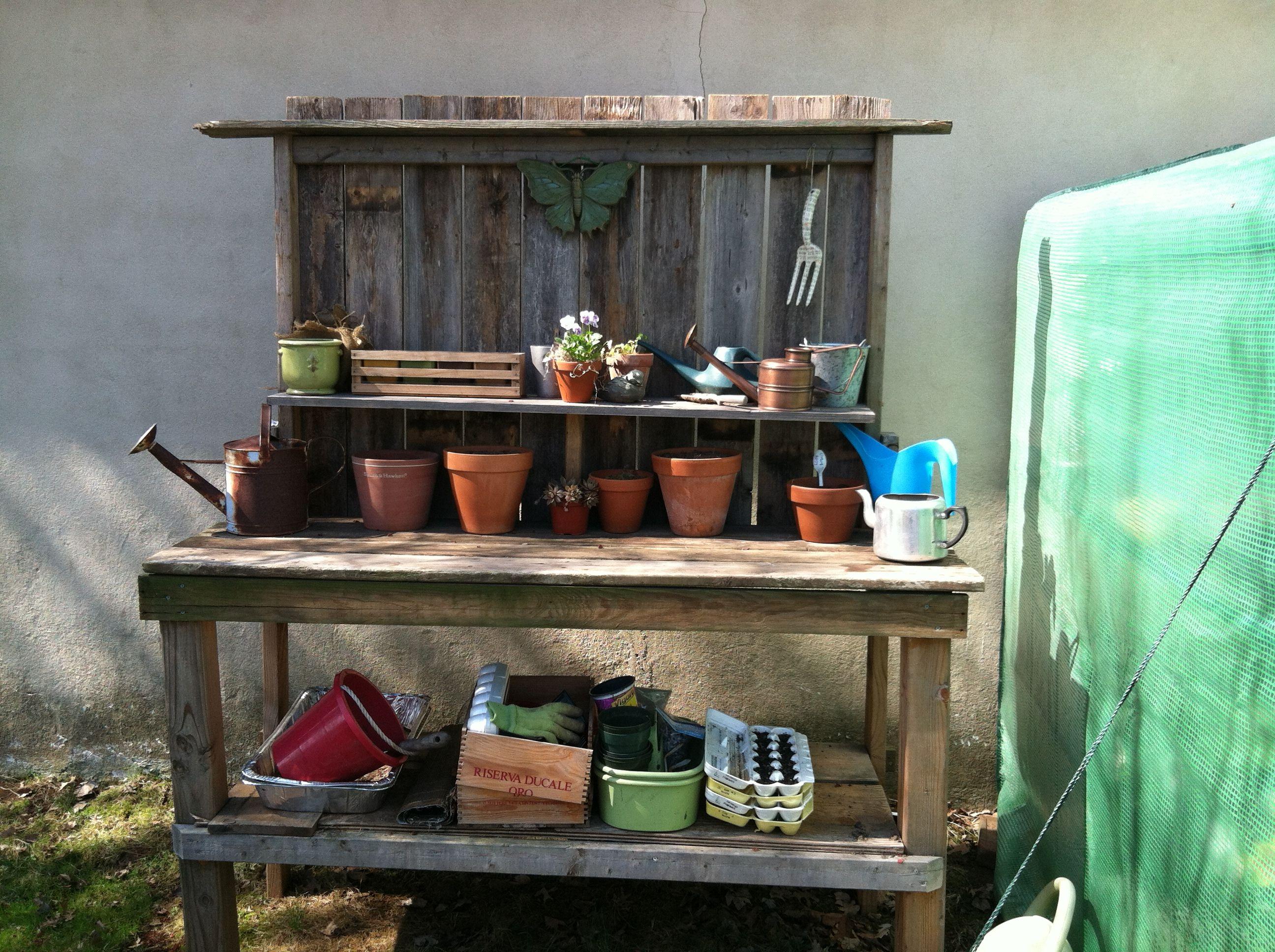 New potting bench