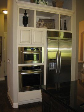 Wall Ovens Next To Refrigerator Design Ideas Pictures