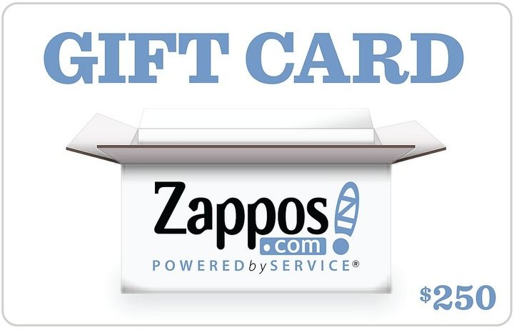 Zappos Gift Cards B2c Zappos 250 Gift Card Popular Gift Cards Clothes Gift Card Egift Card