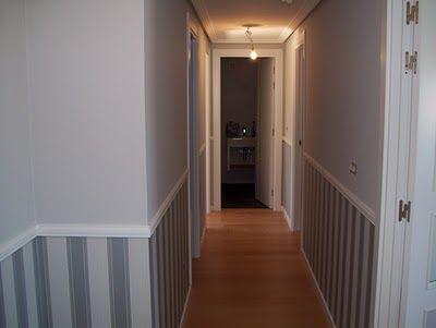 Pasillo largo y estrecho corredor pinterest striped - Papeles pintados para pasillos ...