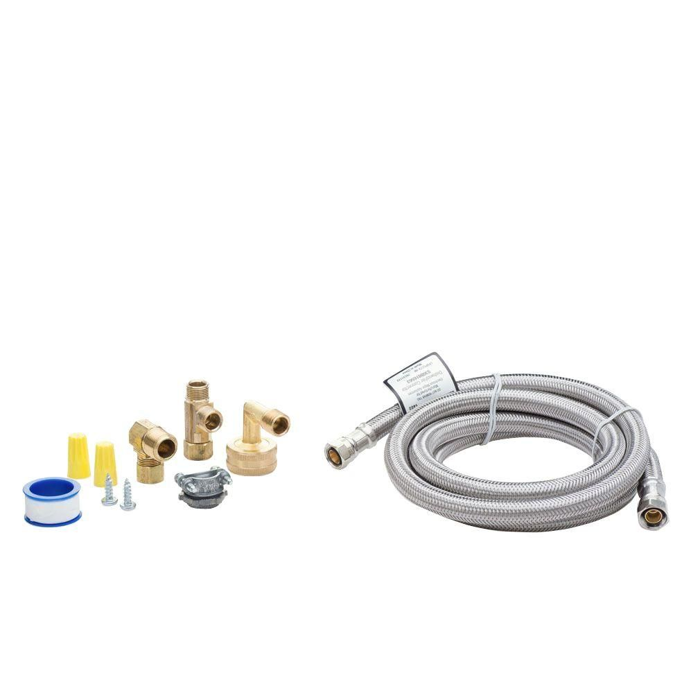 Smart Choice 6 Ft Stainless Steel Dishwasher Installation Kit No Cord Stainless Steel Dishwasher Dishwasher Installation Dishwasher