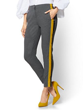 1dca0e04a1b (sz 12) Side-Stripe Ankle Pant Chic contrast  racing stripes in velvet and  sating set apart our sleek ankle pant - a go-to look from work to weekends.  ...