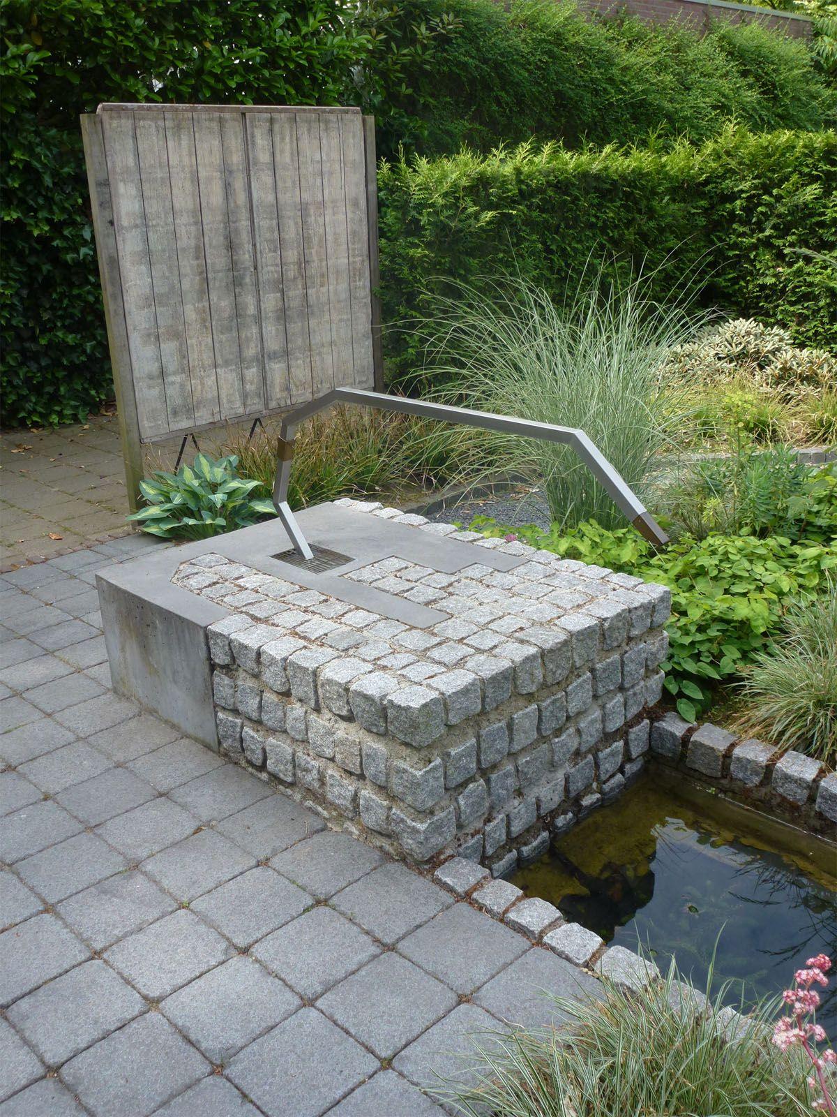 Waterornament en brug atelier ruimtevouwer fontein for Waterpartij maken
