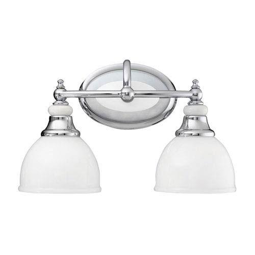 Kichler Pocelona Chrome Two-Light Bath Fixture | Chrome, Bath and ...