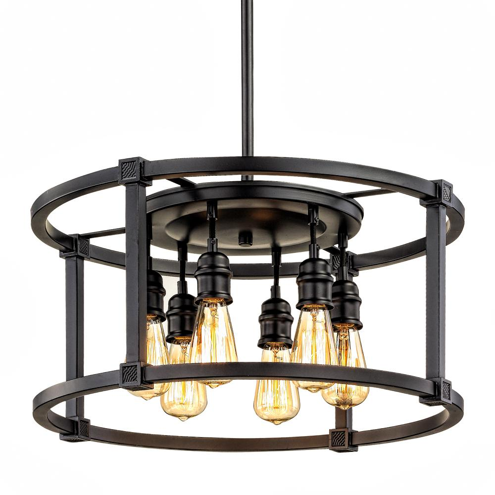 Fifth And Main Lighting 6 Light Aged Bronze Dinette Pendant Lighting Collections Home Decorators Collection Light