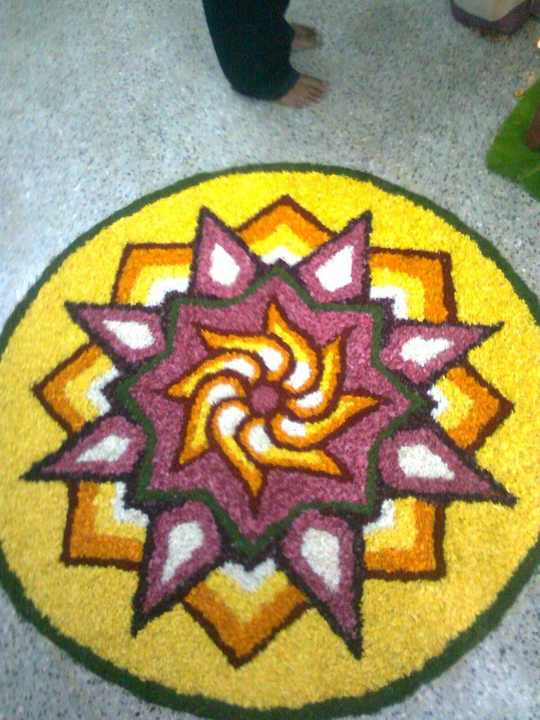 Onam, #Kerala   Floral art, Rangoli designs flower, Floral ...