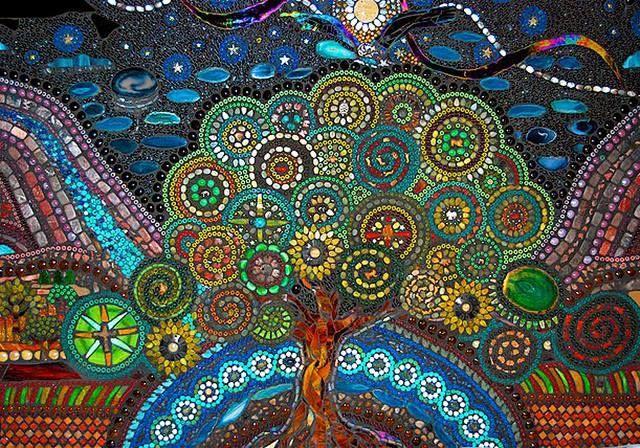 Jaq S Tree Of Life Back Splash Mosaic Tile Art Mosaic