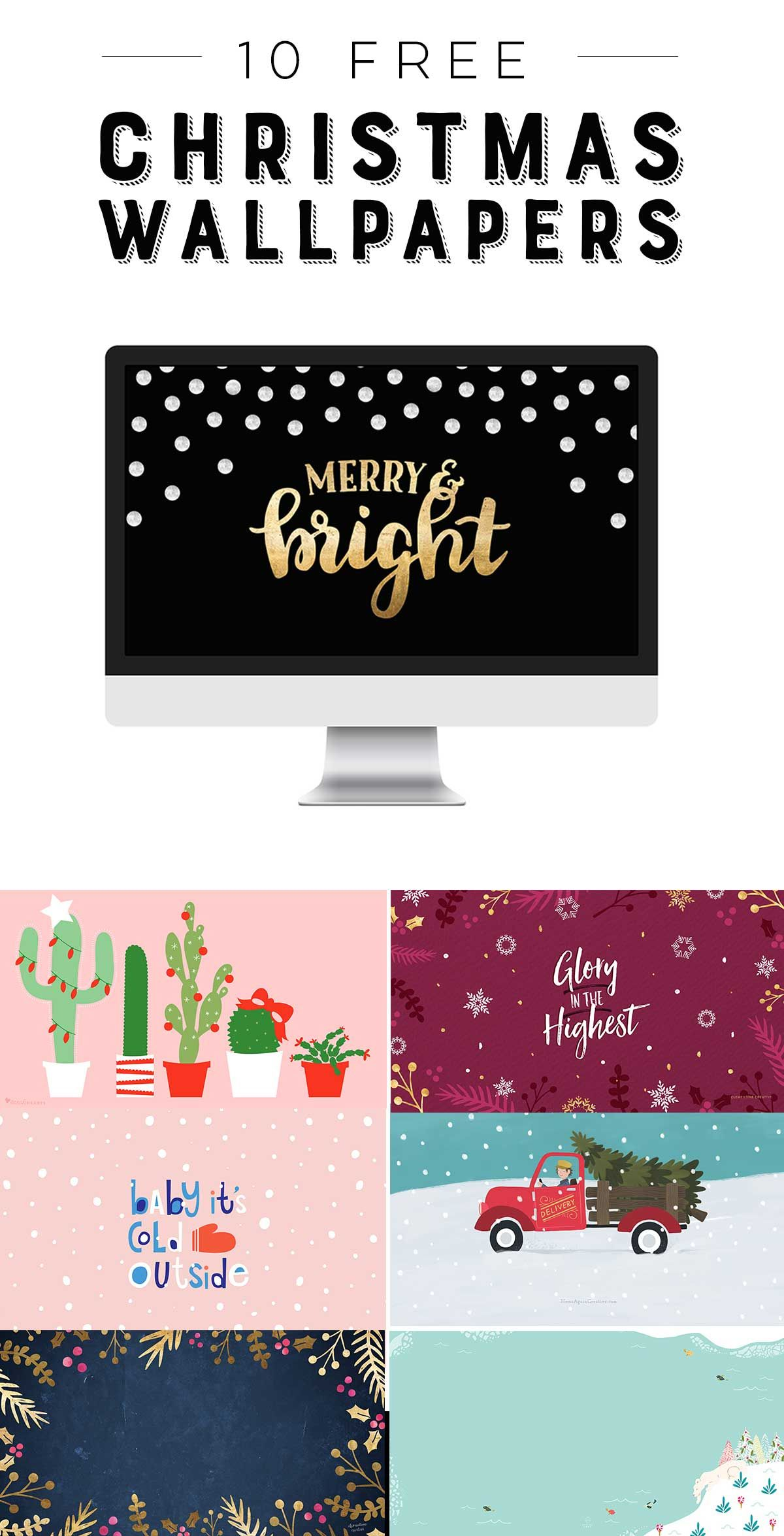 Free Cute Modern Christmas Wallpapers For Your Desktop And Phone Clementine Creative Free Christmas Desktop Wallpaper Christmas Desktop Wallpaper Christmas Wallpaper