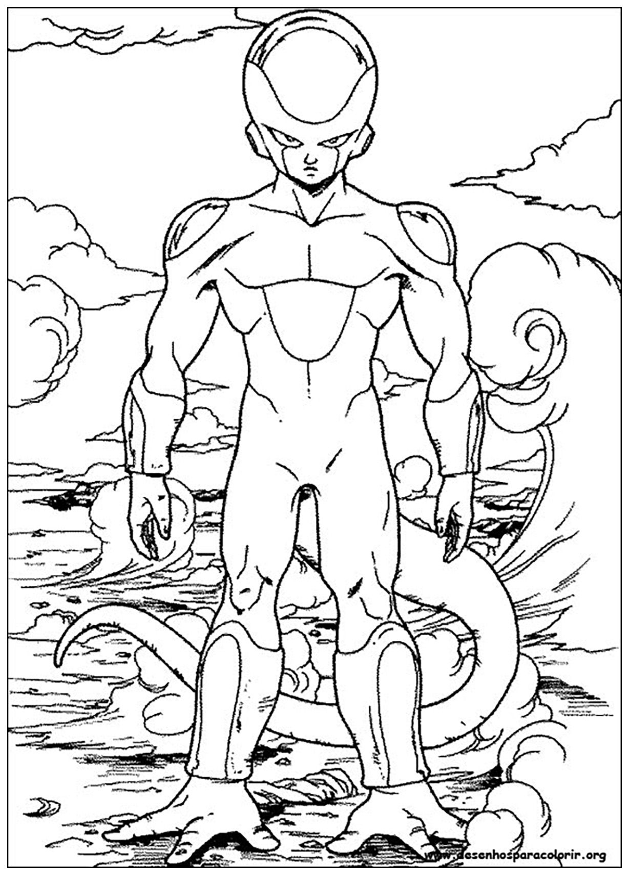Simple Dragon Ball Z Coloring Page For Children From The Gallery Dragon Ball Z Dragon Coloring Page Dragon Ball Artwork Super Coloring Pages